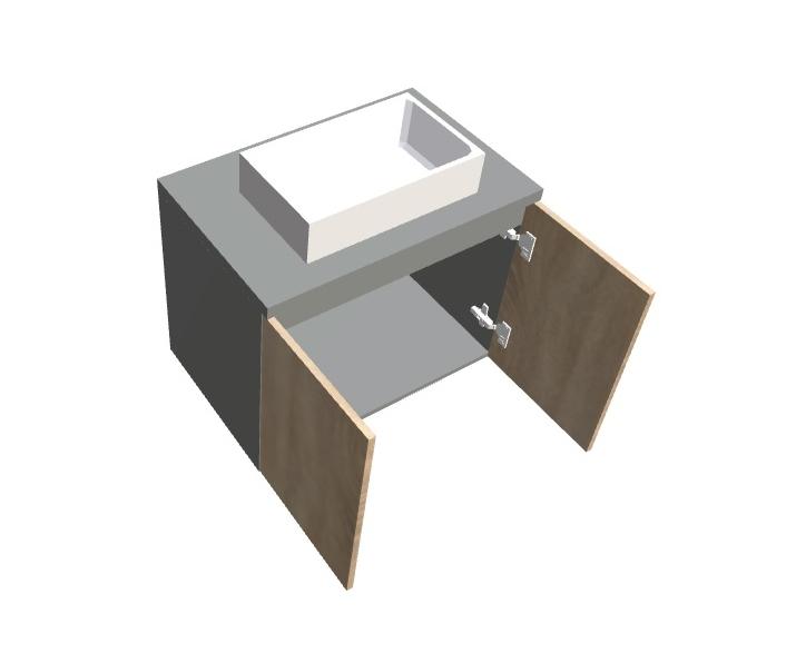 Szafka pod umywalkę nablatową z drzwiami