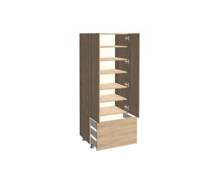 Szafa z półkami i szufladami